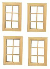 4 x 12th Scale Unpainted Dolls House Windows 99 x 59mm