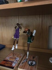 NBA McFarlane Figure Lot Bill Russell Karl Malone Basketball Toy Custom Bases