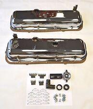 65-72 Chevrolet Chrome Valve Covers BBC 396 427 454 Drippers KIT 41 piece kit