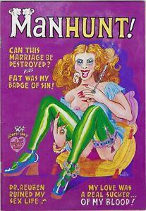 Manhunt  Print Mint  1973   Trina, Richards, Green, London 8.0 VF  50 cent cover