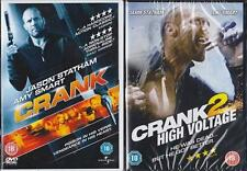CRANK 1 & 2 HIGH VOLTAGE Jason Statham*Dwight Yoakham Cult Action DVD *EXC*