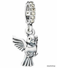 NEW! AUTHENTIC PANDORA CHARM DOVE OF PEACE DANGLE #791394CCZ RETIRED