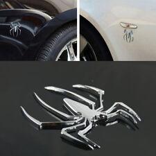 3D Car Stickers HOT Universal Metal Spider Shape Emblem Chrome 3D Car Truck Moto