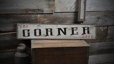 The Corner Cafe Sign - Primitive Rustic Hand Made Vintage Wooden ENS1000270