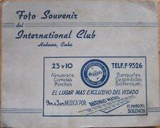 1950s Music Club/Restaurant/Melody Bar Photograph Folder - Havana/Habana, Cuba