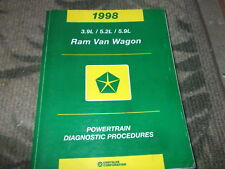 1998 Dodge Ram Van Wagon Powertrain Diagnostic Procedures Service Manual Oem