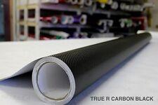 Black True R Carbon Fiber Vinyl Roll 5ft x 10ft New Air-Release Car Wrap Decal