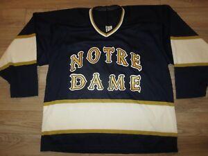 Notre Dame Irish Hockey CCM Jersey LG L mens