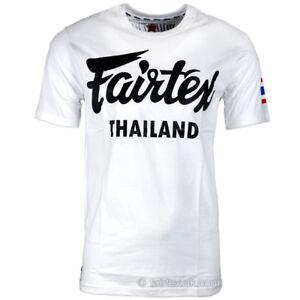 Fairtex T-Shirt Thailand White t-shirt TST56 Casual Tee Kickboxing MMA Training