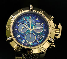 Invicta Mens Subaqua Noma III Chronograph Abalone Gold High Polish Watch 90142