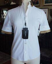 BNWT New Dolce & Gabbana white tuxedo shirt blouse top dress, sz 40 / US4 $895