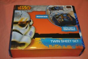 Disney Star Wars Rebels Twin Sheet Set New Microfiber Flat Fitted Pillowcase