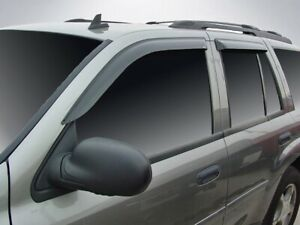 "Tape-On Wind Deflectors 2002-2009 Chevy Trailblazer LT/SS (19"" Rear Windows)"