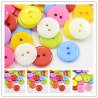 50x CornflowerBlue ABS Plastic Sewing Heart Shaped Buttons Craft 14mm hole 1.5mm
