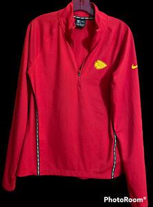 Kansas City KC Chiefs Red 1/4 Zip Pullover Men's Size Medium Dri Fit NFL Apparel