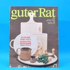 Guter Rat 1-1988 Verlag für die Frau DDR Kühlautomat Holz Naumburg Schnitzen B