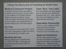 Travellers Aid Melbourne Medical Companion Project Brochure Postcard