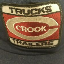 Crook Trucks Trailers Trucker Hat Baseball Cap Mesh Adjustable Snapback Denim