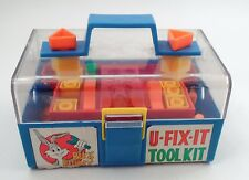 HTF 1970s Enco Bugs Bunny U Fix It Tool Kit w/ Tools Parts Carrying Case Toolbox
