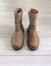 Josef Seibel Mens Tan Leather Nubuck, Shearling Lined Boots, UK Size 7, 41
