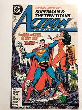 ACTION COMICS #584 All New Superman & Teen Titans (1986, DC) VF-NM