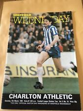 SHEFFIELD WEDNESDAY V CHARLTON ATHLETIC 6/03/1982 DIVISION 2 (6)