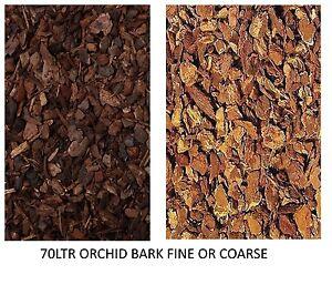 ORCHID REPTILE BARK 70 LTR BULK SACK BREEDER PACK FINE OR COARSE SUBSTRATE