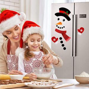 Christmas Snowman Refrigerator Magnets Cute Funny Fridge Refrigerator Stickers