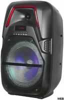 "Cassa acustica 8"" Batteria Luce LED Bluetooth/SD/USB/Radio LiGE-X11"