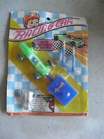 Vintage 1970s Racing Car Plastic Race Car Playset NIP