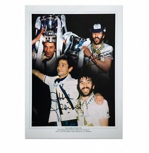 Spurs Ardiles and Villa print - original Tottenham autographs with COA
