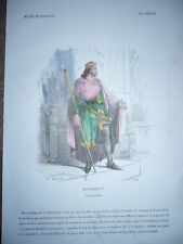 GRAVURE 1880 DAGOBERT 1ER ROI DE FRANCE