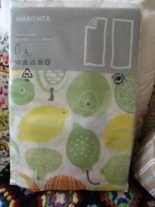 Rare IKEA MARIENTA CURTAINS, Iconic Retro Fruit and Veg Design, 145x300 cm BNIP