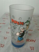Rare Vintage 1998 POPEYE Universal Studios IOA  Frosted Glass Raised SYNDICATE