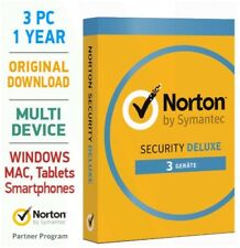 Norton Security 3.0 Deluxe 2018 3 PC 1 Jahr Mac Android Tablet