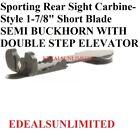 Sporting Rear Sight Carbine-style 1-78 Short Blade Semi Buckhorn .275 - .505