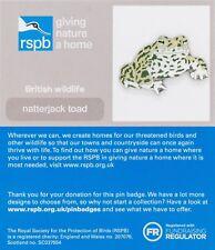 RSPB Pin Badge   Natterjack Toad   GNaH [01346]