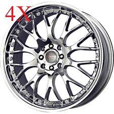 Drag Wheels DR-19 18x7.5 5x108 5x115 Virtual Chrome Rims For Lincoln thunderbird