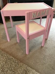 Childrens Table And Personalised Chair