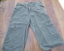 Airwalk Hombres Pantalones cortos estilo cargo de largo Caqui Verde Oliva Talla M