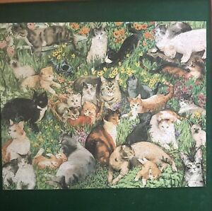 SPRINGBOK PZL6195 Puzzle CATS CATS CATS CHATS CHATS CHATS II 1000 Piece COMPLETE