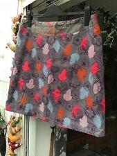 White Stuff Fine Corduroy Velvet Skirt Size 14. Leaves and Flowers Design
