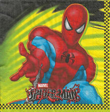 Lot de 4 Serviettes en papier Spiderman Decoupage Collage Decopatch