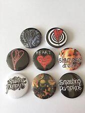 8 Smashing Pumpkins button Badges Heart Siamese Dream Disarm 1979 Cherub Rock