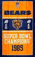 Chicago Bears NFL Super Bowl Championship Flag 3x5 ft Vertical Banner Man-Cave