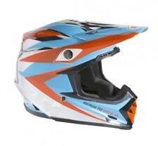 KTM Bell Moto 9 Motocross Dirtbike ATV Off Road MX Orange Blue Chrome Helmet LG