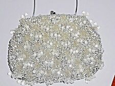 Vintage Evening Handbag/Purse Silver Sequence Beaded