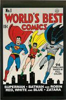 Postcard Art of Vintage DC Comics World's Best Comics #1 Spring 1941