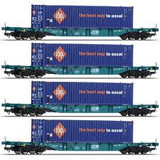 Fleischmann 524109 Güterwagen Containertragwagen Sgns SNCB H0