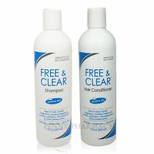 Free and Clear Combo SET SHAMPOO and CONDITIONER 12 Oz ea PRIORITY SHIP!